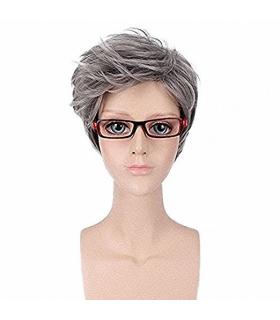 کلاه گیس گو اکشن زنانه مدل کوتاه و مدل دار GOOACTION Short Grey Women Synthetic Hair Wig