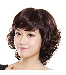 کلاه گیس گو اکشن زنانه طبیعی مدل کوتاه و فر Gooaction Short Curly Human Hair Wig