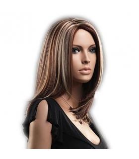 کلاه گیس گو اکشن زنانه مدل متوسط و صاف مش Gooaction Medium Gold And Brown With Blonde Highlights Wig