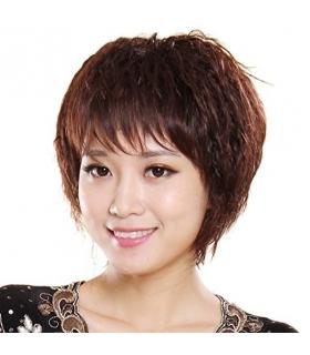 کلاه گیس گو اکشن زنانه طبیعی مدل مجعد و کوتاه Gooaction Fluffy Short Real Human Hair Wig