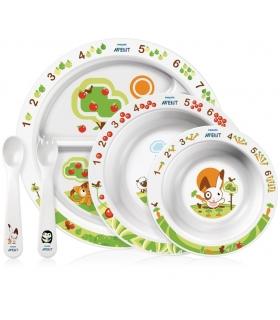 ست غذاخوری فیلیپس اونت 5 تکه طرح خرگوش Philips Avent A716 Toddler Feeding Set