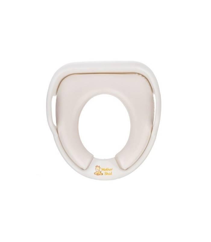 تبدیل توالت فرنگی مادرشید سفید با طرح زرافه 1893 Mothershid Giraffe Cars Soft Wc Baby Seat