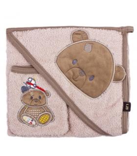 حوله کلاهدار و لیف مادرکر طرح تدی Mothercare 138 Teddy Towel And Mitt
