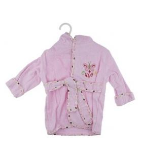 حوله پالتویی کودک طرح پروانه 1152 Butterfly Overcoat Baby Towel