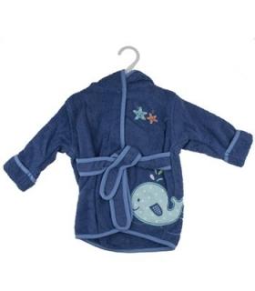 حوله پالتویی کودک طرح نهنگ 1152 Whale Overcoat Baby Towel