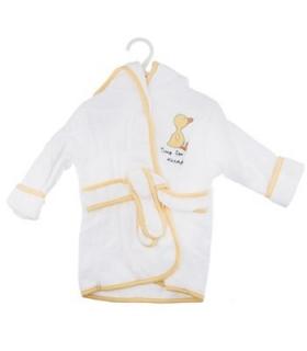 حوله پالتویی کودک سفید با لبه های رنگی 1152 White Overcoat Baby Towel