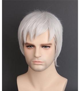 کلاه گیس تاپ کاسپلی مردانه مدل فانتزی کوتاه Topcosplay Short Gray Fancy Wig