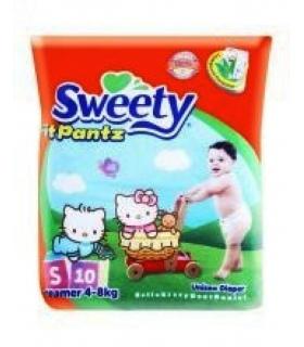پوشک شورتی سوییتی بسته 10 عددی سایز کوچک Sweety 1108.1 Diaper Size S Pack of 10