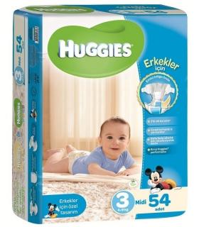 پوشک هاگیز پسرانه بسته 54 عددی سایز 3 Huggies 1369 Diaper Size 3 Pack of 54