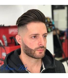 کلاه گیس ساینو آرت مردانه مدل تکه ای وسط سر SinoArt Hairpiece Human Hair Men Wig