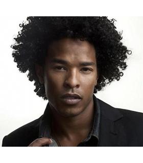 کلاه گیس ساینو آرت مردانه مدل فرفری SinoArt Afro Curly Short Human Hair Wig