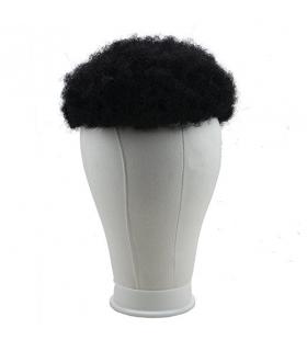 کلاه گیس ساینو آرت مردانه مدل تکه ای وسط سر فرفری SinoArt Human Hair Afro Curly Mens Wig