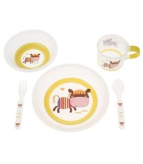 ست غذاخوری 5 تکه ملامین بیبی فور لایف Baby4Life 1143 Toddler Feeding Set