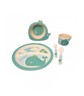 ست غذاخوری 5 تکه یوکیدو طرح اقیانوس Yookidoo 1626 Ocean Toddler Feeding Set
