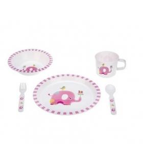ست غذاخوری 5 تکه بیبی فور لایف طرح فیل Baby4Life 1804 Elephant Toddler Feeding Set