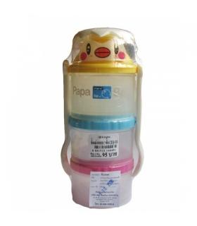 ظرف نگهدارنده غذای کودک پاپا به همراه قاشق و چنگال Papa 1395 Baby Food Containers