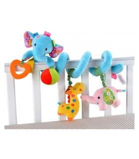 آویز مارپیچ جولی بیبی طرح فیل Jollybaby 963 Elephant Hanging Carrier