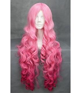 کلاه گیس کالیس زنانه مدل بلند و مجعد صورتی Kalyss long pink curly womens wig
