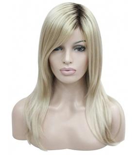 کلاه گیس کالیس زنانه مدل بلند و صاف بلوند با ریشه های مشکی Kalyss Long Straight Dark roots Blonde wig