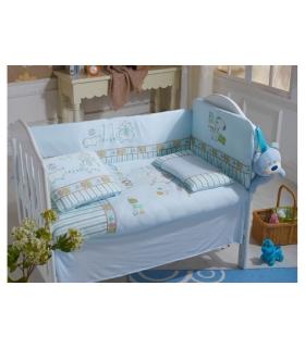 سرویس خواب 6 تکه کارترلیب طرح کرگدن و فیل Carterliebe DC15-308 Baby Bed Set 6 Pieces