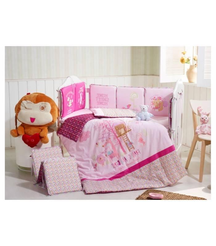 سرویس خواب 6 تکه کارترلیب طرح کلبه و زرافه Carterliebe D14-321 Baby Bed Set 6 Pieces |