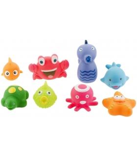 اسباب بازی حمام 8 عددی طرح حیوانات دریایی Sae Animals Tub Toys 8 Pcs