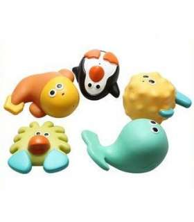 اسباب بازی حمام جولی بیبی 5 عددی JollyBaby 14 Baby BathToys 5 Pcs