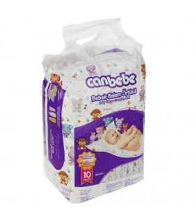 زیرانداز تعویص یکبار مصرف جان ب ب بسته 10 عددی Canbebe 1781 Langering Disposable Baby Changing Mat Pack Of 10