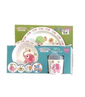 ست غذاخوری 5 تکه کالرلند Colorland 1818 Toddler Feeding Set