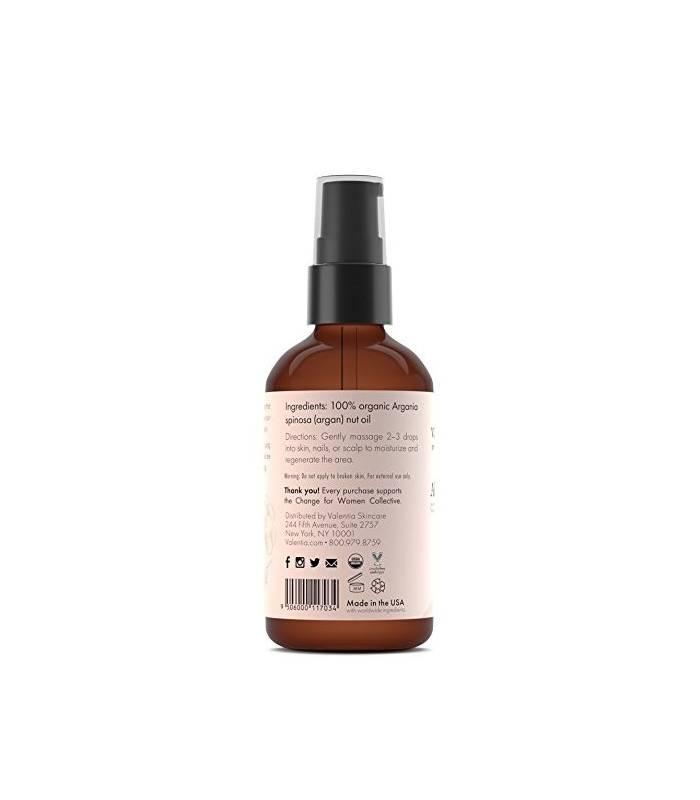 روغن آرگان ارگانیک ولنتینا برای پوست و مو Valentia Hair & Skin Organic Argan Oil