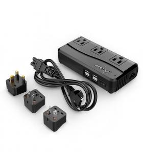 مبدل برق 220 به 110 ولت مسافرتی بستک دارای 4 پورت یو اس بی BESTEK Universal Travel Adapter 220V to 110V with 4 Port USB
