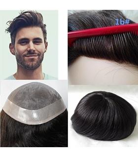پروتز موی مردانه لومنگ مشکی طبیعی با ماندگاری بالا Lumeng Wigs Super Durable Off Black