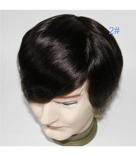 پروتز موی مردانه لومنگ قهوه ای تیره با ماندگاری بالا Lumeng Wigs Super Durable Dark Brown