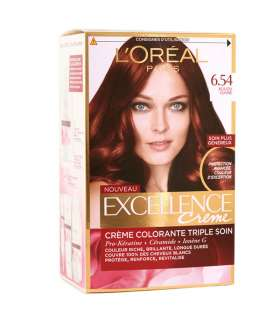 کيت رنگ موي لورآل LOreal Excellence Hair Color Kit No 6.54