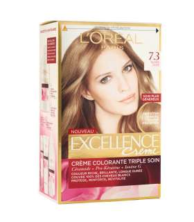 کیت رنگ مو لورآل شماره 7.3 اکسلنس tLOreal Excellence No 7.3 Hair Color kit