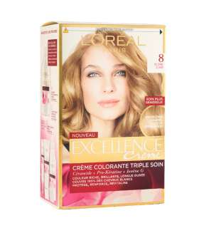 کیت رنگ مو لورآل شماره 8 اکسلنس LOreal Excellence No 8 Hair Color Kit