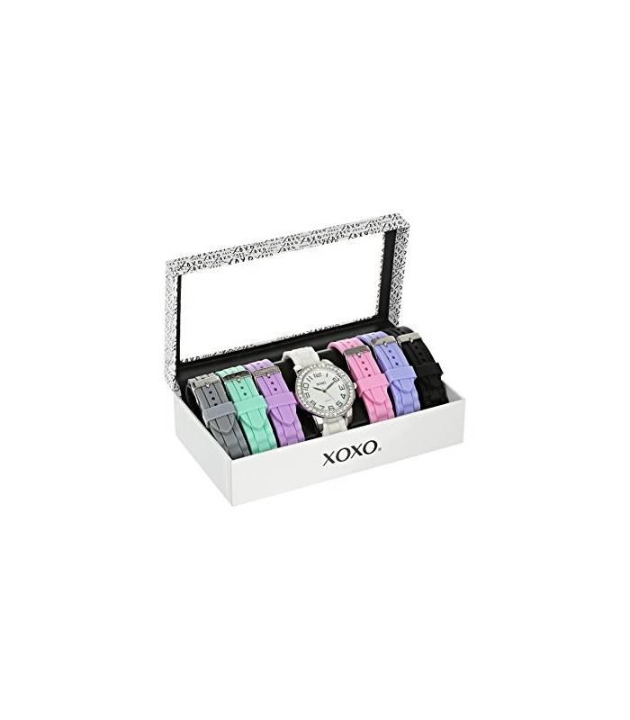 ساعت مچی زنانه ایکس او ایکس او 9069 با 7 بند قابل تعویض XOXO Women's XO9069 Watch with 7 Interchangeable Bands