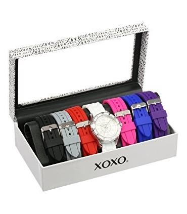 ساعت مچی زنانه ایکس او ایکس او 9043 با 7 بند قابل تعویض XOXO Women's XO9043 Watch with 7 Interchangeable Bands