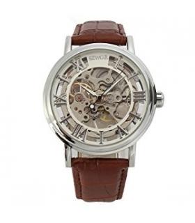 ساعت مچی مردانه سور مکانیکال اسکلتون وینتیج استایل SEWOR Men's Mechanical Skeleton Transparent Vintage Style Watch