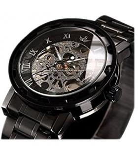 ساعت مچی مردانه آلپز مکانیکال اسکلتون کلاسیک لاکچری Men's Luxury Classic Skeleton Mechanical Stainless Steel Watch