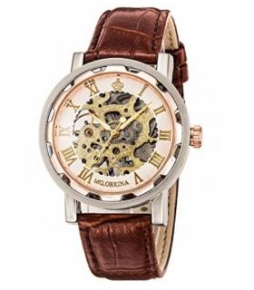 ساعت مچی اسپرت اورکینا استیم پانک بلینگ اسکلتون مکانیکال Orkina Steampunk Bling Skeleton Mechanical Wristwatch