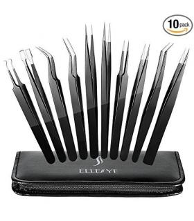 ست انبرک تعمیرات دیجیتال اله سی ElleSye 10 PCS Precision Tweezers Set
