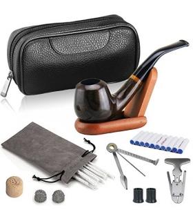 ست پیپ جویولدلف لاکچری همراه کلیه لوازم جانبی Joyoldelf Luxury Wooden Smoking Pipe Set XX017US