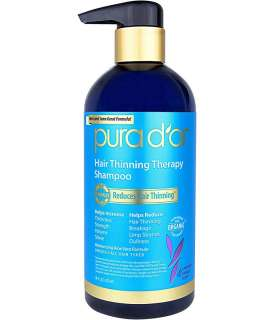 شامپو ارگانیک درمان ریزش مو پورا دور PURA D'OR Hair Thinning Therapy Shampoo
