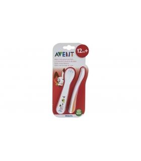 ست قاشق و چنگال کودک اونت Avent Rabbit A712 Baby Cutlery Set
