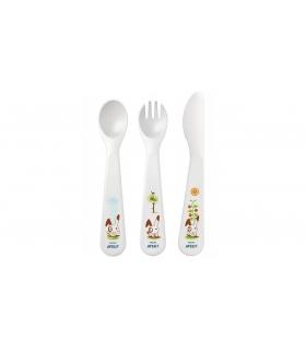 ست قاشق و چنگال و کارد کودک اونت Avent Rabbit A714 Baby Cutlery Set