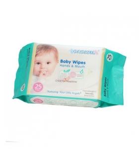 دستمال مرطوب کودک بیبی سیل بسته 25 عددی Babisil Cleansing Wipes For Baby