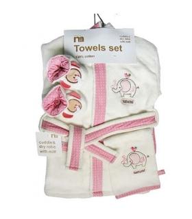 ست حوله 5 تکه مادرکر طرح فیل Mothercare 1145 Baby Towel Piece
