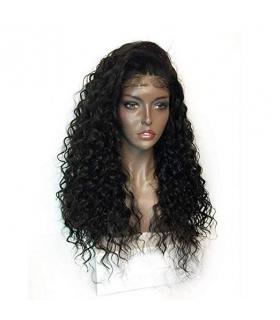 کلاه گیس زنانه آمیزی مدل فر Ameesi Black Long Curly Women Synthetic Wig