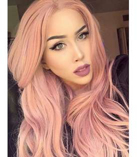 کلاه گیس زنانه کریزما مدل فانتزی و حالت دار صورتی K'ryssma Pink Synthetic Wig For Women